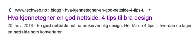 Title tag: Hva kjennetegner en god nettside