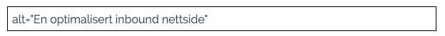 alt= En optimalisert inbound nettside