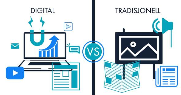 Tradisjonell vs digital