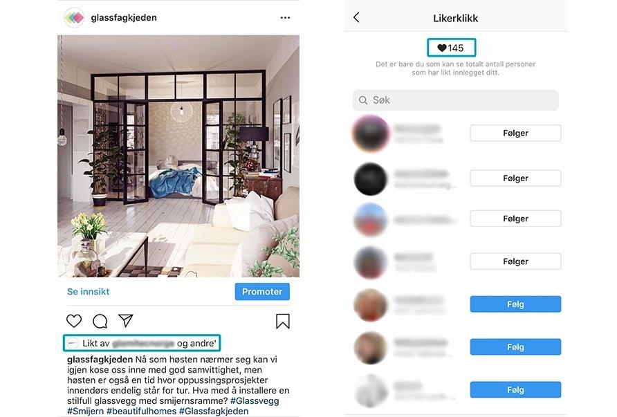 instagram- endringer på egen profil